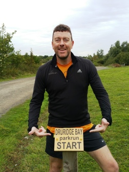 Druridge Bay parkrun start sign
